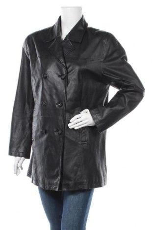 Дамско кожено яке Alba Moda, Размер L, Цвят Черен, Естествена кожа, Цена 19,43лв.