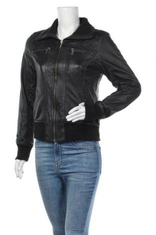 Γυναικείο δερμάτινο μπουφάν Ann Christine, Μέγεθος M, Χρώμα Μαύρο, Γνήσιο δέρμα, Τιμή 40,85€