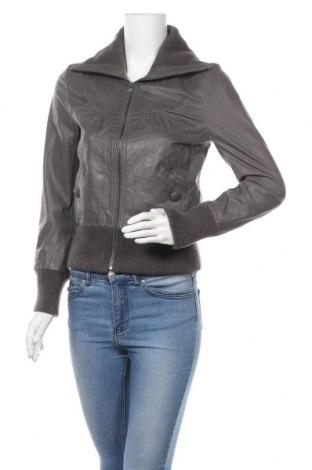 Дамско кожено яке Blend She, Размер S, Цвят Сив, Естествена кожа, Цена 49,67лв.