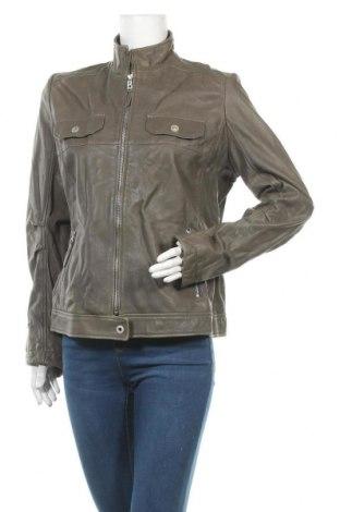 Дамско кожено яке Bogner, Размер L, Цвят Зелен, Естествена кожа, Цена 124,22лв.