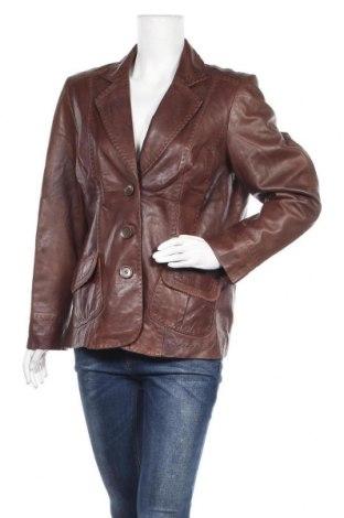Дамско кожено яке Bonita, Размер XL, Цвят Кафяв, Естествена кожа, Цена 74,66лв.