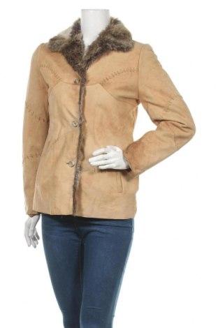 Дамско кожено яке Cabrini, Размер M, Цвят Бежов, Естествена кожа, Цена 61,74лв.