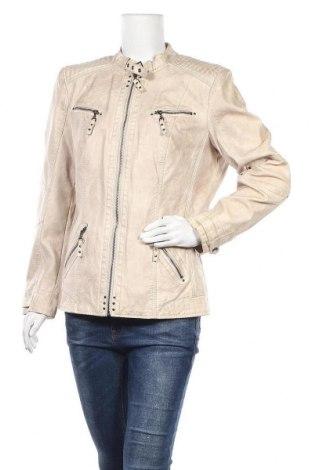 Дамско кожено яке Canda, Размер XL, Цвят Бежов, Еко кожа, Цена 40,95лв.