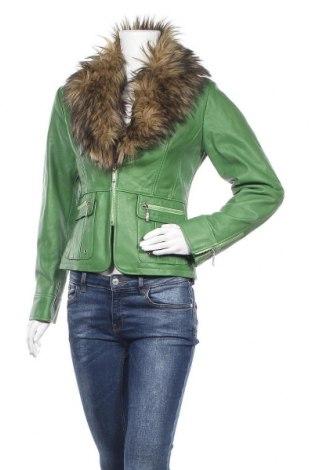 Γυναικείο δερμάτινο μπουφάν Chantal, Μέγεθος M, Χρώμα Πράσινο, Γνήσιο δέρμα, Τιμή 85,77€