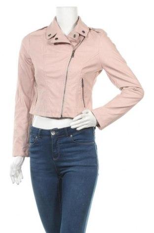 Дамско кожено яке Charlotte Russe, Размер S, Цвят Розов, Еко кожа, Цена 43,05лв.