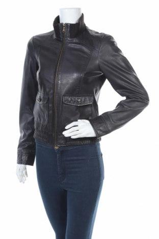 Дамско кожено яке Esprit, Размер S, Цвят Син, Естествена кожа, Цена 84,11лв.