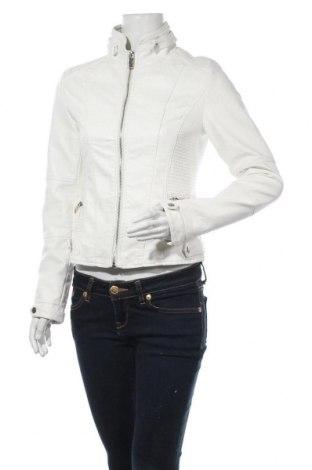 Дамско кожено яке Flamant Rose, Размер S, Цвят Бял, Еко кожа, Цена 41,90лв.