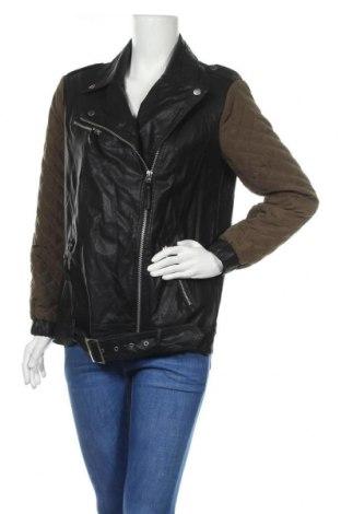 Дамско кожено яке Forever 21, Размер S, Цвят Черен, Еко кожа, полиестер, Цена 11,55лв.