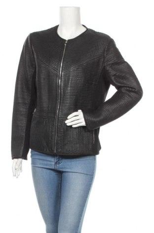 Γυναικείο δερμάτινο μπουφάν Gerry Weber, Μέγεθος L, Χρώμα Μαύρο, Γνήσιο δέρμα, κλωστοϋφαντουργικά προϊόντα, Τιμή 67,42€