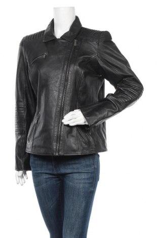 Дамско кожено яке Helium, Размер L, Цвят Черен, Естествена кожа, Цена 107,10лв.