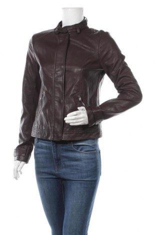 Дамско кожено яке Hollister, Размер M, Цвят Кафяв, Еко кожа, Цена 39,90лв.