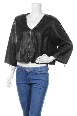 Дамско кожено яке Jackie, Размер XL, Цвят Черен, Естествена кожа, Цена 61,74лв.
