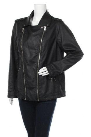 Дамско кожено яке Janina, Размер XL, Цвят Черен, Еко кожа, Цена 34,91лв.