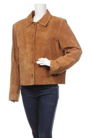 Γυναικείο δερμάτινο μπουφάν Joy, Μέγεθος XL, Χρώμα Καφέ, Φυσικό σουέτ, Τιμή 16,14€