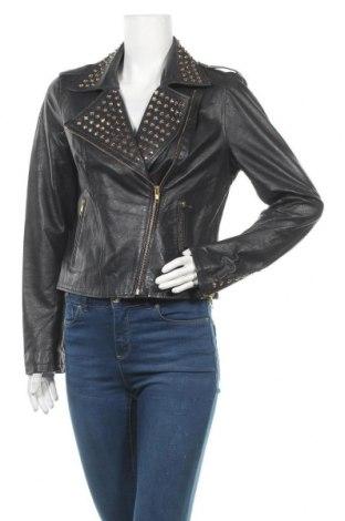 Γυναικείο δερμάτινο μπουφάν Just Jeans, Μέγεθος M, Χρώμα Μπλέ, Γνήσιο δέρμα, Τιμή 53,68€