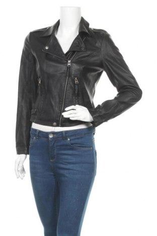 Дамско кожено яке Koton, Размер M, Цвят Черен, Еко кожа, Цена 41,90лв.