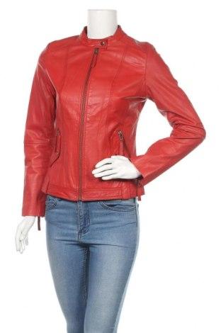 Γυναικείο δερμάτινο μπουφάν Lawrence Grey, Μέγεθος M, Χρώμα Κόκκινο, Γνήσιο δέρμα, Τιμή 75,29€