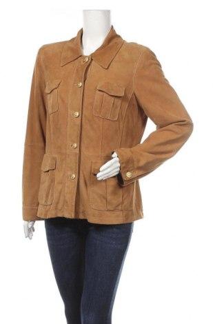 Дамско кожено яке Madeleine, Размер L, Цвят Кафяв, Естествен велур, Цена 56,60лв.