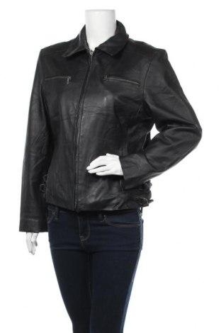 Дамско кожено яке Ms Mode, Размер M, Цвят Черен, Естествена кожа, Цена 70,09лв.