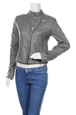 Γυναικείο δερμάτινο μπουφάν Munthe Plus Simonsen, Μέγεθος S, Χρώμα Γκρί, Γνήσιο δέρμα, Τιμή 81,84€