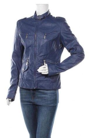 Дамско кожено яке New Age, Размер XL, Цвят Син, Еко кожа, Цена 17,85лв.