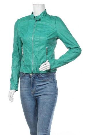 Дамско кожено яке New Age, Размер S, Цвят Зелен, Еко кожа, Цена 15,12лв.