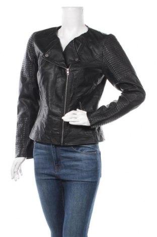 Дамско кожено яке ONLY, Размер L, Цвят Черен, Еко кожа, Цена 48,72лв.