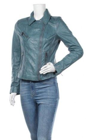 Дамско кожено яке Oakwood, Размер M, Цвят Син, Естествена кожа, Цена 79,70лв.