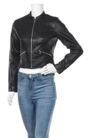 Дамско кожено яке Orsay, Размер M, Цвят Черен, Еко кожа, Цена 26,57лв.
