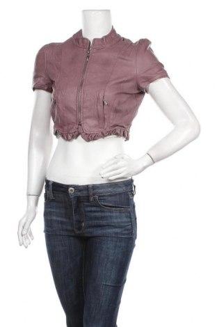 Дамско кожено яке Orsay, Размер M, Цвят Розов, Еко кожа, Цена 31,19лв.