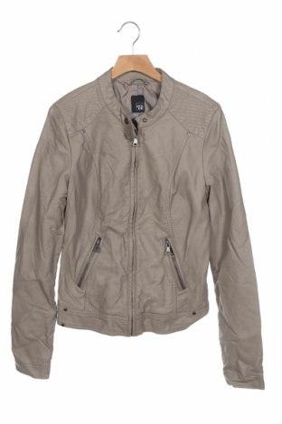 Дамско кожено яке Pimkie, Размер XS, Цвят Бежов, Еко кожа, Цена 37,80лв.