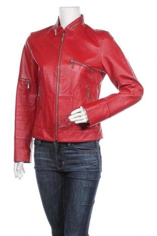 Γυναικείο δερμάτινο μπουφάν SAKI, Μέγεθος M, Χρώμα Κόκκινο, Γνήσιο δέρμα, Τιμή 48,71€