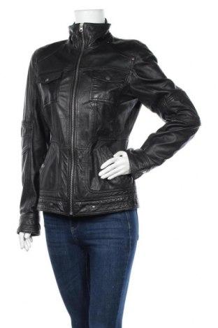 Дамско кожено яке Street One, Размер M, Цвят Черен, Естествена кожа, Цена 82,95лв.