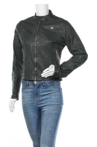 Дамско кожено яке Superdry, Размер S, Цвят Зелен, Естествена кожа, Цена 120,96лв.