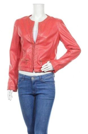 Дамско кожено яке Sweet Miss, Размер XL, Цвят Розов, Еко кожа, Цена 88,20лв.