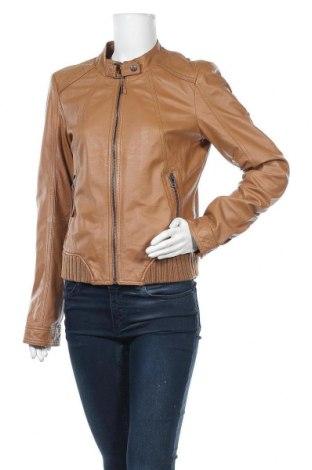 Дамско кожено яке Vero Moda, Размер L, Цвят Кафяв, Естествена кожа, Цена 77,70лв.