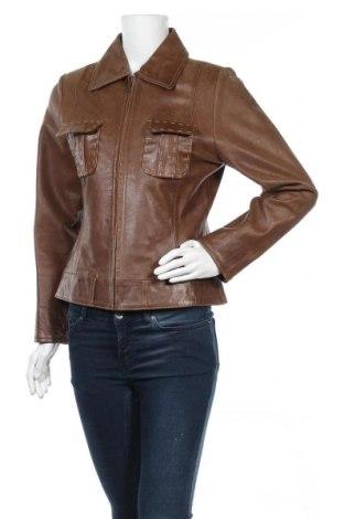 Дамско кожено яке W, Размер M, Цвят Кафяв, Естествена кожа, Цена 55,44лв.