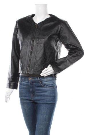 Дамско кожено яке Woodpecker, Размер M, Цвят Черен, Естествена кожа, Цена 78,75лв.