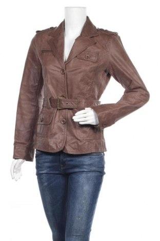 Дамско кожено яке Y.o.u, Размер S, Цвят Кафяв, Естествена кожа, Цена 23,10лв.