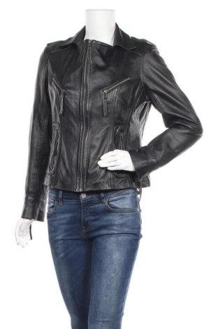 Дамско кожено яке Yessica, Размер M, Цвят Черен, Естествена кожа, Цена 85,79лв.