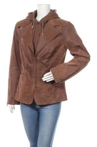 Дамско кожено яке Yessica, Размер XL, Цвят Кафяв, Естествена кожа, Цена 66,94лв.