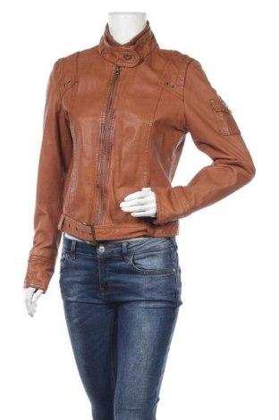 Дамско кожено яке Yessica, Размер M, Цвят Кафяв, Естествена кожа, Цена 62,37лв.