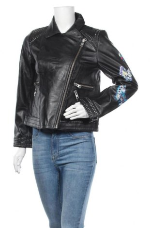 Γυναικείο δερμάτινο μπουφάν Zadig & Voltaire, Μέγεθος L, Χρώμα Μαύρο, Γνήσιο δέρμα, Τιμή 402,25€