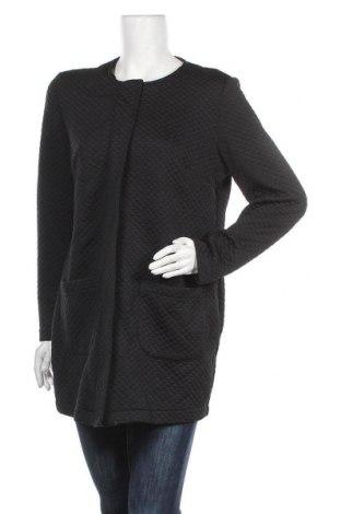 Дамско палто, Размер M, Цвят Черен, 96% полиестер, 4% еластан, Цена 24,26лв.