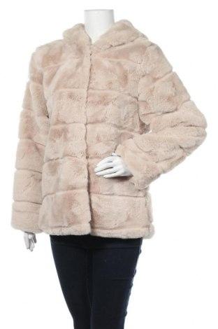 Дамско палто Angelique, Размер L, Цвят Бежов, Акрил, Цена 55,93лв.