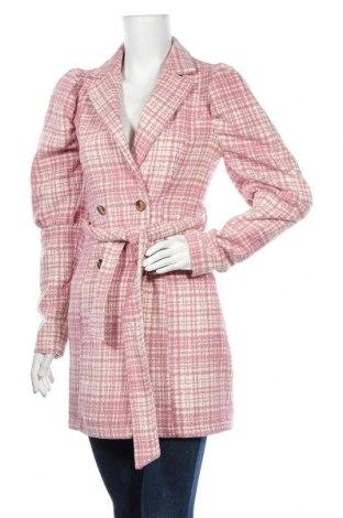 Γυναικείο παλτό Missguided, Μέγεθος XS, Χρώμα Ρόζ , Πολυεστέρας, Τιμή 21,15€