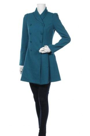 Дамско палто Suite Blanco, Размер S, Цвят Зелен, 59% полиестер, 36% вискоза, 5% еластан, Цена 43,20лв.