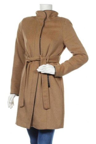 Dámský kabát  Vero Moda, Velikost S, Barva Béžová, 61% polyester, 31% vlna, 3%acryl, 2% bavlna, 2% viskóza, 1% polyamide, Cena  694,00Kč