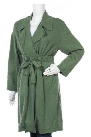 Дамски шлифер Zara, Размер S, Цвят Зелен, Лиосел, Цена 49,98лв.