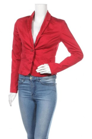 Дамско сако 17 & Co., Размер S, Цвят Червен, 97% памук, 3% еластан, Цена 6,30лв.
